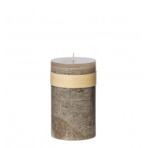 Timber Block Taupe Healthy Candles 8 x 15 cm