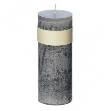 Timber Block Grey Healthy Candles 8 x 23 cm