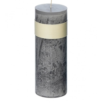 Timber Block Grey Healthy Candles 8 x 30 cm