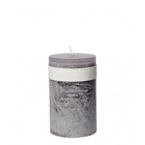 Timber Block Mauve Taupe Healthy Candles 8 x 15cm