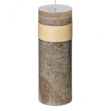 Timber Block Taupe Healthy Candles 8 x 30cm