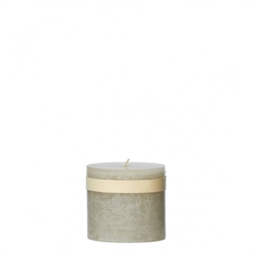 Timber Block Smokey Grey Healthy Candle 8 x7,5 cm