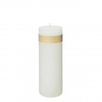 Timber Block Snow White Candles 8 x 23 cm