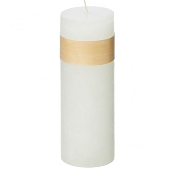 Timber Block Snow White Candles 8 x 30cm